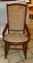 Walnut Eastlake Carved Rocker / Rocking Chair   - $399.00