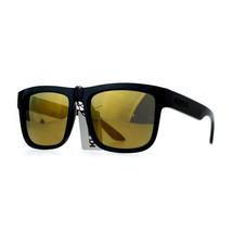 KUSH Unisex Sunglasses Classic Black Square Frame Mirror Lens UV 400 - $8.05
