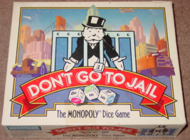 MONOPOLY DONT GO TO JAIL DICE GAME Parker Brothers 1991 Complete Excellent  - $15.00
