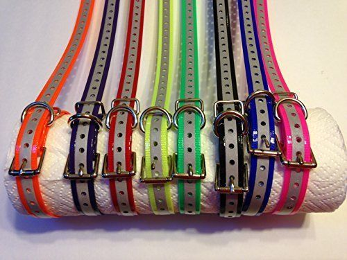 E Collar Compatible 3/4 Inch Reflective Replacement Dog Collar Strap Made in USA