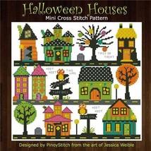 Halloween Houses cross stitch chart Pinoy Stitch - $11.25