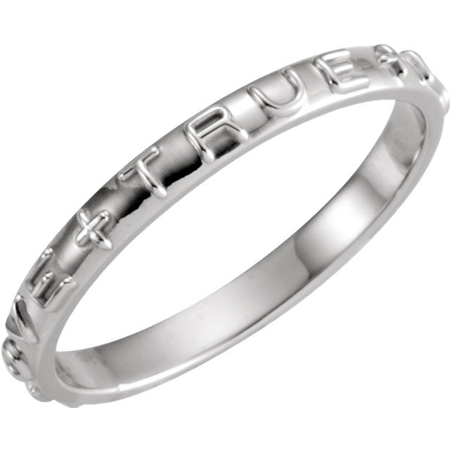 "14K Yellow Gold or 14K White Gold ""True Love"" Chastity Ring"