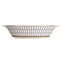 Wedgwood Renaissance Gold Oval Serving Vegetable Bowl Brand New with Tag - £122.05 GBP
