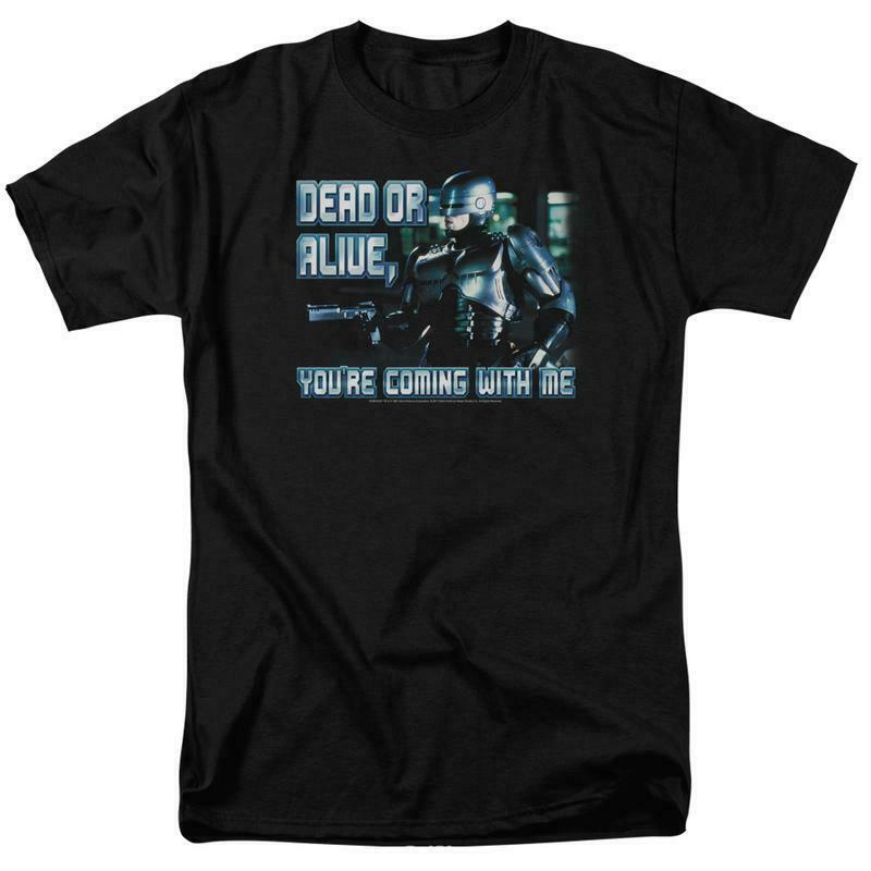RoboCop Dead or Alive Retro 80's action movie graphic t-shirt MGM119