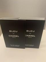 2x Chanel Bleu de Chanel PARFUM Pour Homme Spray 1.5ml/0.05oz Each - $11.87