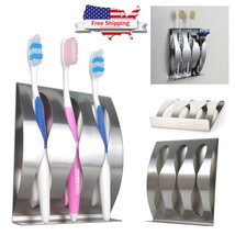 Wall Mount Toothbrush Holder Stainless Steel Ho... - $13.24