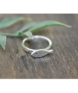 925 sterling silver Cute Fish Band Ring - $35.00