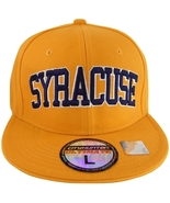 Syracuse Fitted Orange Baseball Cap with Navy Blue Writing - $9.95