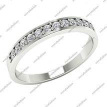 Engagement Anniversary Ring 14K White Gold Round Cut 0.25 Ct Sim Diamond Jewelry - £61.01 GBP
