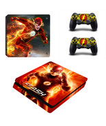 PS4 Slim Console Dualshock Skin The Flash DC Co... - $12.00