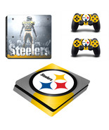 PS4 Slim Console Dualshock Skin NFL Pittsburgh ... - $12.00