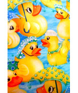 New RUBBER DUCK DUCKY Window Curtain Valance Limited supply - $12.99