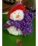 Red Hat Snowman Christmas Plush Ornament  - $2.84