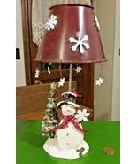 "11"" Snowman Votive Candle Holder Tea Light Chri... - $12.34"