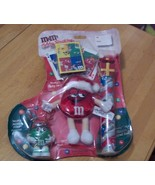 Rare 2001 Gift Filled M&M Holiday Stocking Seal... - $9.49