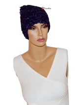 Charter Club Women's Hat Beanie Soft Chenille Eyelash Blue and Purple $38 - $18.99 CAD