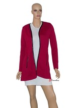 Charter Club Woman's Sweater Cardigan Cardinal Red 100% Cotton $89.50 - $22.38