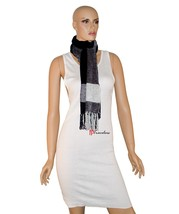 Charter Club Women's Scarf Black and White 65x10 Chenille Tassels $42 - ₨1,078.89 INR