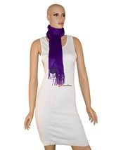 Charter Club Luxury Women's Scarf Solid Purple 62x10 100% Cashmere $95 - ₨2,653.34 INR