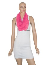 Style and Co Women's Wrap Scarf Infinity Loop Pinata Pink with Sequins $... - $11.60