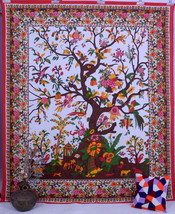 Indian Ethnic Tree Of Life Hippie Wall Hanging Decorative Art Tapestry B... - £12.56 GBP