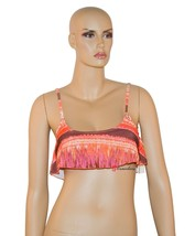 R Collection by Raisins Women's Swimsuit Bikini Top Over Shoulder Orange... - $19.20