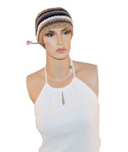 Collection Eighteen XXXIII Women's Hat Head Wrap Brown with Black and Wh... - ₨462.38 INR