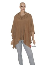 Charter Club Woman's Sweater Poncho Cowl News L/XL Salty Nut Brown $59.50 - $23.80