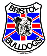 Bristol Bulldogs speedway shaped sticker 110mm car decal bumper vintage ... - $3.44