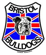 Bristol Bulldogs speedway shaped self cling window sticker 110mm vintage... - $4.70