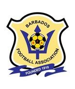 Barbados crest shaped vinyl window sticker 12x12cm soccer football Carib... - $4.07