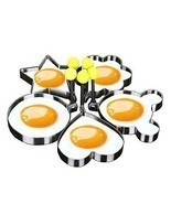 5PCS Fried Egg Mold Egg Ring Egg Shaper Stainle... - $13.98