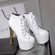 pp247 stunning Martin pumps with square heels, US Size 3-10, white - $62.80