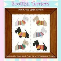 Scottish Terrier Mini Sampler cross stitch chart Pinoy Stitch - $5.40