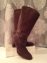 Michael Kors Tall Leather Thick Heeled Riding Boots Comfortable 8.5 M - $54.99
