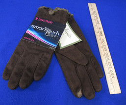 Isotoner Smart Touch DK Chocolate Brown Gloves Phone Screens Pointer Thu... - $19.79