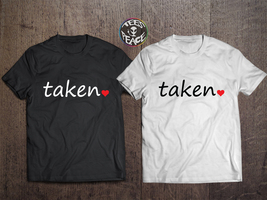 Love tshirts set, Taken Heart Shirts, Taken Couples Set, Taken Love, Lad... - $19.68 CAD