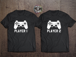 Player 1 Player 2 shirts, Matching Players Sets, Player Tees, Funny Tshi... - $19.68 CAD