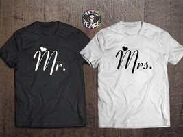 Mr and Mrs shirts, Mr and Mrs tshirts, Bride and Groom Couples set, Mr a... - $19.68 CAD