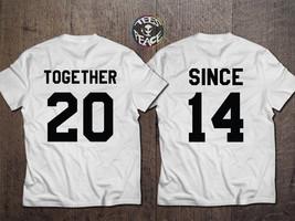 Together Since Couples Shirt Set, Together since tees, Together Since Se... - $19.68 CAD