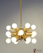 18 Lights Modern Brass Hanging Ceiling Sputnik Chandelier Light Fixture - £234.71 GBP