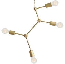 Asymmetrical Modern brass hanging ceiling chandelier light fixture - £124.81 GBP