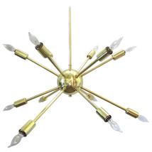 Modern Brass Sputnik Chandelier In Polished Brass - 12 arms chandelier - £234.71 GBP