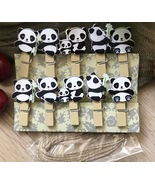 panda paper Clips,pin Clothespin,wooden pegs,Birthday Party Favor Decora... - $3.20+