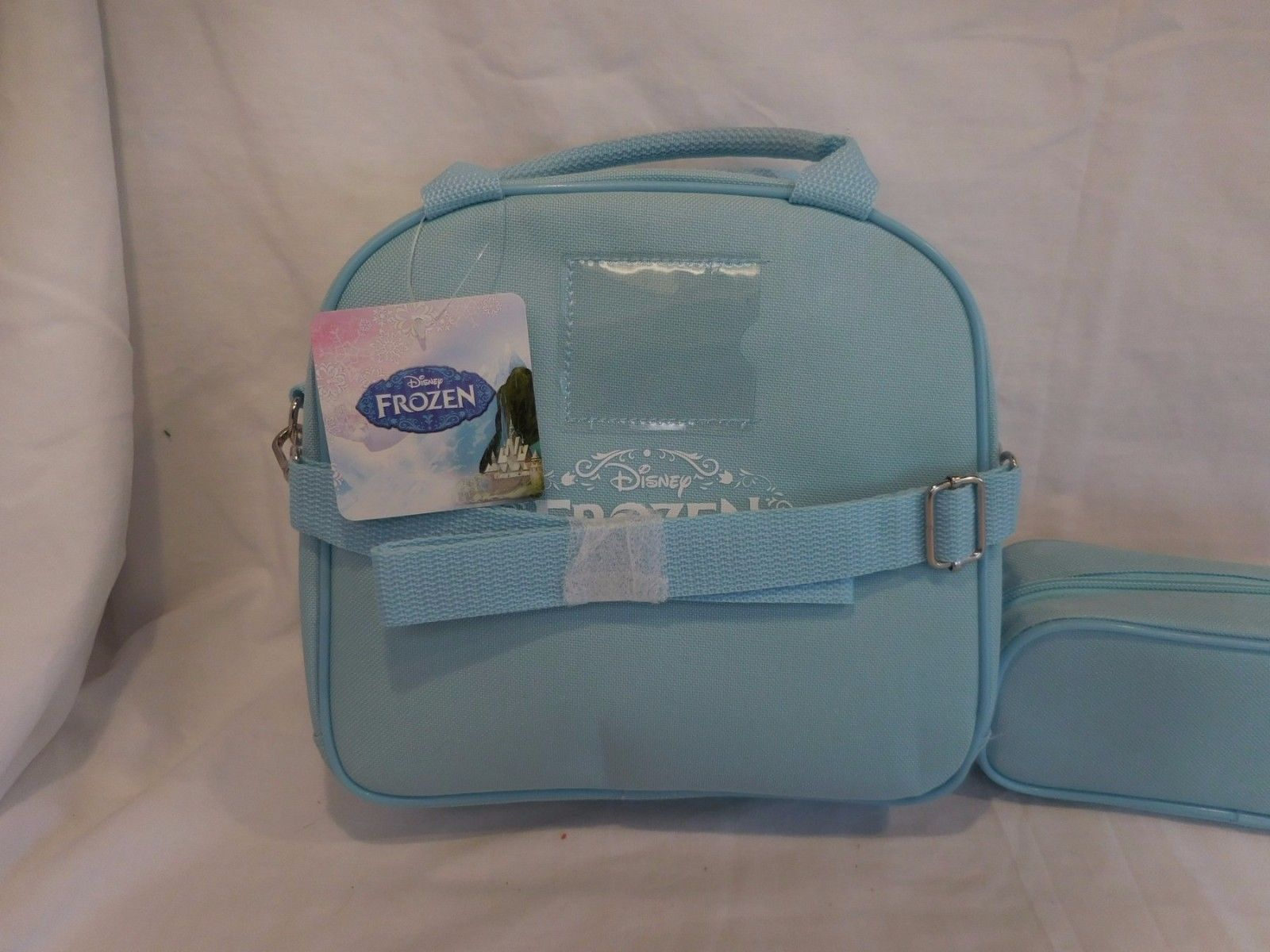 DISNEY'S FROZEN  LUNCH BOX & PENCIL or Make Up Cosmetic Pochette CASE SET!  NWT