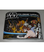 2005 Star Wars Clone Wars Commemorative DVD Collection Figure Set New In... - $25.99