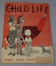 Vintage Child Life Magazine November 1951 - $5.00