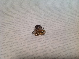 NEW Gold Tone Cat Angel Stud Pin w Wings image 2
