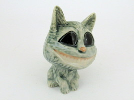 Handmade Dollhouse Miniatures Ceramic Porcelain Big Head Cat Smiling FIG... - $3.96