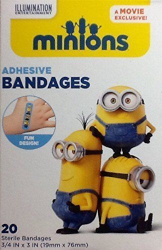 Primary image for MINIONS Movie Exclusive Adhesive Sterile BANDAGES  20-pack Despicable Me